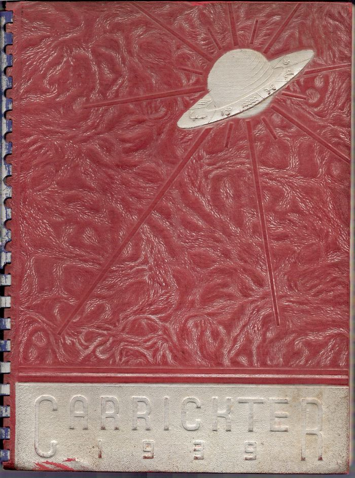 Carrick 1939 yearbook cover.jpg