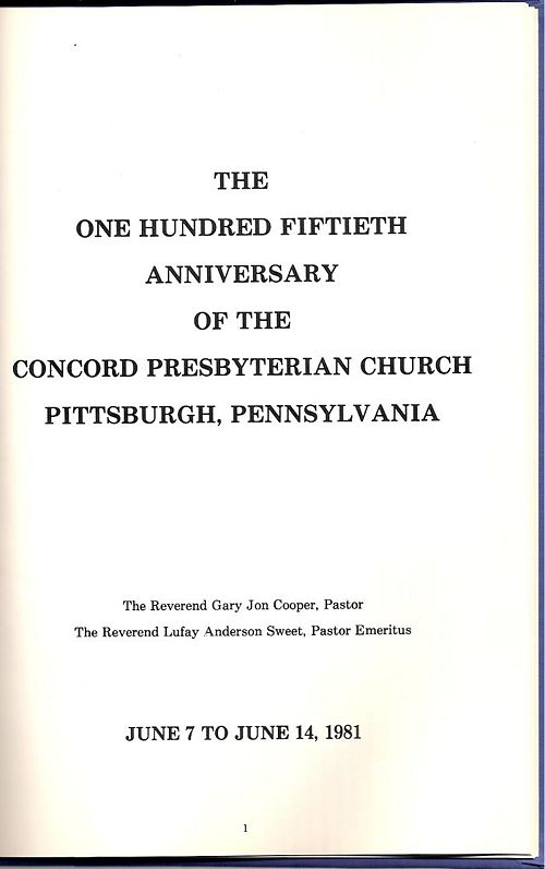 Concord Church 150th Anniversary 1831-1981 booklet page 1.jpg